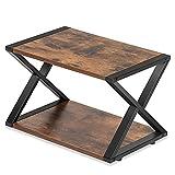 FITUEYES Druckerhalter Holz Matchwood 2 Schichten X Structure Schreibtisch Organizer für Büro und Zuhause 45.5x30.3x29.7cm DO204501WG