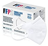 20 FFP2/KN95 Maske CE Zertifiziert Kleine Größe Small, Medizinische Mask mit 4 Lagige Masken ohne Ventil, Staub- und Partikelschutzmaske, Atemschutzmaske mit Hoher BFE-Filtereffizienz≥95 20 Stück