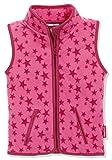 Playshoes Unisex Kinder Fleeceweste Allover Sterne, Pink, 98