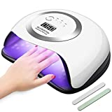 120W Nageltrockner, UV LED Lampe für Nägel, LED Nagellampe mit 4 Timer Einstellungen Infrarot Sensor LCD Display, Aushärtungswerkzeug für Finger/Zehennagel Gel