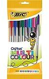 BIC Kugelschreiber Cristal Multicolor – Kugelschreiber Set mit 8 verschiedenen Farben für das Büro, die Schule & den Alltag – 1 Beutel mit 8 Stück
