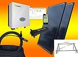 600Watt Balkonkraftwerk MIT MONTAGEMATERIAL ALS AUFSTÄNDERUNG/WANDBEFESTIGUNG/Solaranlage mit Internetüberwachung von bau-tech Solarenergie GmbH