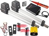 Sommer Twist 200E Drehtorantrieb 2-flüglig + 2 Handsendern mit ADAMS Anhänger + Lichtschr. Set 5in1L + ADAMS Stromprüfer