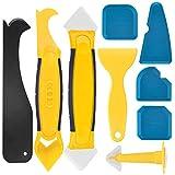 ZOOI 9 Stücke Silikonentferner, Silikon Abzieher Fugenwerkzeug Fugenglätter Multifunktional Abdichtung Werkzeug Caulk Dichtmittelelentferner, Caps Sealant für Badezimmer Küche Badezimmer Boden