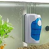 Aquarium Glasreiniger, JRing Magnetischer Aquarium-Glasreiniger, Aquarium Reiniger Algen Schaber Fisch Tank Glas Magnet Pinsel (L)