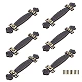 6 Stück/Set Ledermöbel Türgriff, Ledermöbelgriff mit Nagelschrauben, Zuggriff Knopf im europäischen Stil für Türen Schränke Schränke Schubladen Koffer