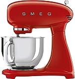 Smeg Smf03rdeu Küchenmaschine, 800 W, 10 Geschwindigkeitsstufen, 800 W, Edelstahl, Aluminium, Rot