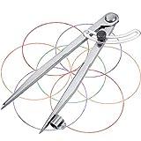 Leather Compass, Anreißzirkel Große Bleistift Markierung Zirkel mit Bleistifthalter, Wing Leather Divider Bogenzirkel 200 mm Schnellverstellzirkel Marinezirkel für Zeichnen/Schreiner/Lederverarbeitung