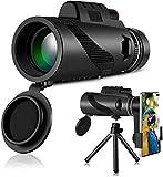 HWeggo Monokular Fernglas, Monocular Telescope Handy Teleskop 40X60 HD mit Handy Halterung Stativ für Klettern Wandern Jagd Vogelbeobachtung