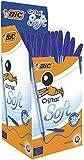 BIC Cristal Soft Kugelschreiber, ohne Druckmechanik, 50 Stück, Blau