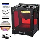Laser Gravur gravierer Drucker,Lacyie Graviermaschine 3000mW 490x490 Pixel USB Mini Graviermaschine CNC Router Schneiden Offline Betrieb Lasergravurmaschine für DIY-Mini-Gravierdrucker Kompatibel