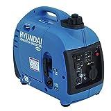 HYUNDAI Inverter-Generator HY1000Si D (Inverter Stromerzeuger, tragbarer Benzin Generator mit 1 kW Maximalleistung und SCHUKO Stecker, Notstromaggregat, Stromaggregat)