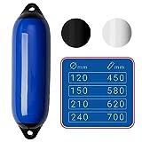 SEILFLECHTER - Aufblasbarer Langfender   Damit Ihr Boot sicher geschützt ist in blau, Ø 120 mm, 450 mm
