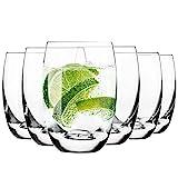 Krosno Wassergläser Saftgläser Trinkgläser   Set von 6   360 ML   Elite Kollektion   Perfekt für zu Hause, Restaurants und Partys   Spülmaschinenfest und Mikrowellengeeignet