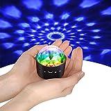 Mini Discokugel Licht,YIKANWEN Stimme Steuerung Disco Party Lichter Bühnenbeleuchtung Effektlicht DJ Stroboskop Kugel mit Spiegeln & Glitzereffekt für Parties Kinder Geburtstag Club