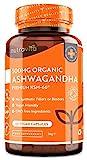Bio Ashwagandha KSM-66® – 500 mg pro Kapsel – Bio Schlafbeere – Die höchste Konzentration & am meisten bioverfügbar Vollspektrum-Wurzel-Pulver – Originaler Indischer Ginseng – Vegan – Hochdosiert