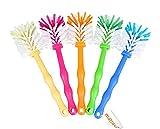 matrasa Spülbürste Tassenbürste - ideal für Thermomix ® TM6 TM5 TM31 und TM21 - mit Nylonborsten (5er Pack (je Farbe 1x) zum Sparpreis)