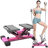 Aocay Mini-Stepper mit Zugbändern Elliptische Swing Steppers Trainings Maschinen Side-Stepper DFGENLY Fitness/Gewichtsverlust 2 in 1, Übungsbein, Taille und Hüfte, Belastung -120KG