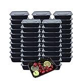 [50er Pack] 750ml Meal Prep Boxen 1-Fach Food Container Meal Prep Container Bento Box Hergestellt aus BPA-freiem Kunststoff, Stapelbar, Mikrowellengeeignet, Gefrier- und Spülmaschinenfest - 750ML