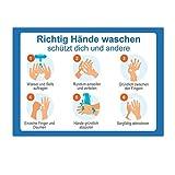 Aufkleber Abstand halten Bitte halten Sie Abstand Aufkleber 1,5m Abstand halten Händewaschen Aufkleber Mundschutz Aufkleber Abstand halten Aufkleber (8er Händewaschen)
