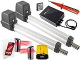 Sommer Twist 200E Drehtorantrieb 2-flüglig + 1 Stück WLAN GATE Modul für Smartphone App+ Lichtschranken 7029 + Warnlicht 24V Set 5in1F + ADAMS Stromprüfer