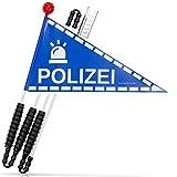 Karl Drais Fahrradwimpel Polizei   Fahrrad Wimpel   Jungen Sicherheitswimpel
