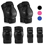 IPSXP Protective Gear Set with Elbow Pads, Knee pad Bracelets for Children Skater, Roller Blading, Skateboard, Scooter, Cycling(L)