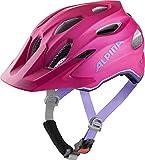 ALPINA Unisex - Kinder, CARAPAX JR. FLASH Fahrradhelm, deeprose-violet matt, 51-56 cm