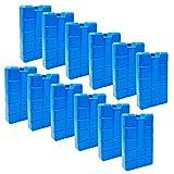 ToCi 12er Set Kühlakku mit je 400 ml   12 Blaue Kühlelemente für die Kühltasche oder Kühlbox