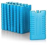 com-four® 8X Kühlakku für Kühltasche - Kühlelemente für Kühlbox - Kühlakkus für Haushalt und Freizeit - 220 ml (blau)