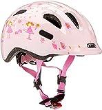 ABUS Smiley 2.0 Kinderhelm - Robuster Fahrradhelm für Mädchen und Jungs - 72565 - Rosa mit Prinzessinnen-Muster, Größe M