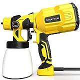 Farbsprühsystem 800ml/min, papasbox Elektrische Farbspritzpistole 550W zum Sprühen von Farbe auf Wand-, Metall- und Holzoberfläche