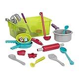 Battat BT2533Z – Kochset mit Geschirr Spielset – Großes Küchen Spielzeug Set für Kinder ab 3 Jahren (21 Teile)