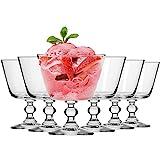 Krosno Eisbecher Eisschale Eisgläser Eiskaffe | Fruchtgeleeschale | Set von 6 | 380 ML | Krista Kollektion | Perfekt für Zuhause, Restaurants und Partys | Spülmaschinenfest