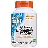 Doctor's Best | Best 3000 GDU Bromelain | 500mg | 90 vegane Kapseln | glutenfrei