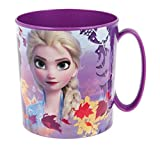 Theonoi Kunststoffbecher/Tasse 350 ml wählbar: Minnie - Princess - Frozen -PawPatrol/Becher mit Henkel aus Kunststoff BPA frei Mikrowelle geeignet/Mädchen Geschenk (Frozen II)