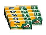 Swirl Öko-Müllbeutel mit Zugband, 35 Liter, 9 Rollen mit je 12 Beuteln, Dunkelgrün