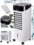 3in1 Air Cooler   7 Liter Kapazität   Mobile Klimaanlage   3 Geschwindigkeitsstufen   Klimagerät   Luftreiniger   Klima Ventilator mit Fernbedienung   Luftkühler   Aircooler (Weiß/Schwarz)