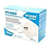 natures FINEST® FFP2 Maske [20x] - 4 Lagen Filter Masken Mundschutz FFP2 Masken einzelverpackt, FFP2 Maske CE zertifiziert durch Stelle 1463