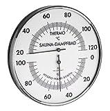 TFA Dostmann Analoges Sauna-Thermo-Hygrometer, 40.1032, Messung der Temperatur/Luftfeuchtigkeit, präzises Haar-Synthetik-Werk