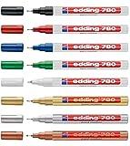 edding 780glanzlack-marker dünn (0,8mm) 8Farben wählbar 8er Set Sortiert Mit Metallic
