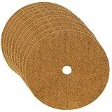 Hainter 10er Set Kokos-Mulchscheibe Winterschutz Pflanzenschutz Abdeckscheibe Frostschutz Kälteschutz für Bäume und Pflanzen (30cm)