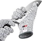 Schnittschutz Handschuhe mit High Performance Level 5 Schutz, Schnittfeste Handschuhe Lebensmittelsicherheit, Arbeitshandschuhe für die Küche, Größe : Mittel, 1 Paar