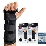 Dr. Arthritis - Handgelenkschiene inkl. Handbuch vom Arzt - Handgelenkschoner Mit Robuster Metallschiene - Handgelenkstütze Passend Für Jede Hand - Karpaltunnelsyndrom Schiene (Links)