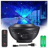 PENDEI LED Sternenhimmel Projektor, 3 in 1 Rotierende Wasserwellen Sternenlicht Projektor Projektionslampe 10 Farben mit Bluetooth Lautsprecher Fernbedienung für Kinder Erwachsene Zimmer Dekoration