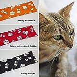 DIE NÄHZWERGE Bio SPIELKISSEN mit Baldrian, Katzenminze (Catnip)   Katzenstick Stinkekissen (Katzenminze/Catnip (orange), 1 Stück)