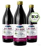 Nonisaft | Bio-Qualität und 100% Direktsaft | Abgefüllt und fermentiert im Ernteland | Apothekenqualität (3 x 1000 ml)