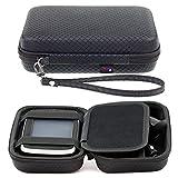 Digicharge Schwarzes Hartschalentasche für Tomtom Go Premium 5' Basic 5' Essential 5 Zoll 5200 5100 520 510 Professional GPS Sat NAV mit Tragegurt und Zubehörfach Pkw-Navi (12,7 cm)