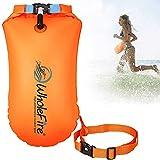 WholeFire 20L Schwimmboje wasserdichte aufblasbare Dry Bag Schwimmtasche für Wassersport, offene Wasserschwimmer, Triathleten, Kajakfahren und Schnorchler