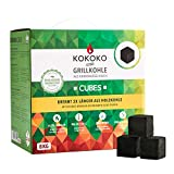 McBrikett KOKOKO CUBES Premium Grillkohle, 8 kg Bio Kokos Grillbriketts